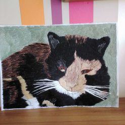 pet portrait thread painting. Commisions artist. 11