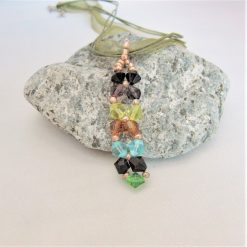 Hand Sewn Crystal Beaded Pendant Necklace with Choice of Crystal Colour, Gift for Her 10