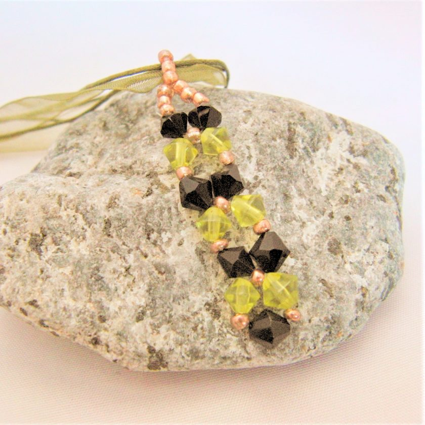 Hand Sewn Crystal Beaded Pendant Necklace with Choice of Crystal Colour, Gift for Her 6