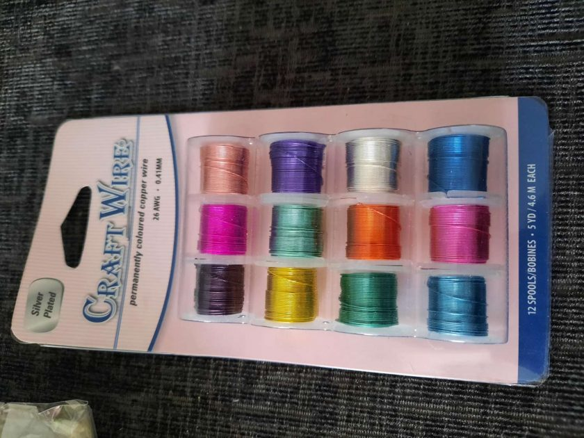 Pack of 12 spools coloured wire 1