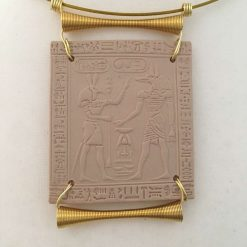 Pendent - Egyptian tile with the Gods Anubis and Set