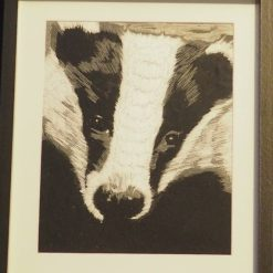 badger thread painting. Artwork. Home decore. 5