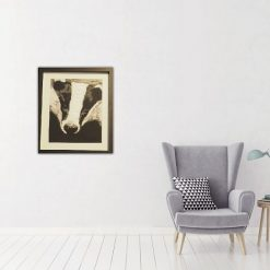 badger thread painting. Artwork. Home decore. 6