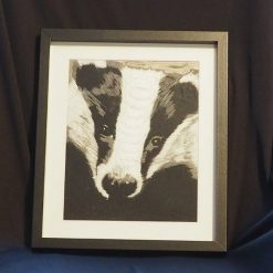 badger thread painting. Artwork. Home decore. 7