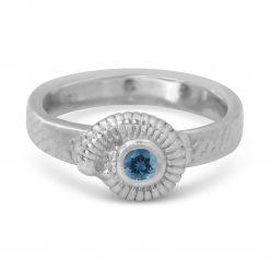 Ammonite Ring with Gemstone