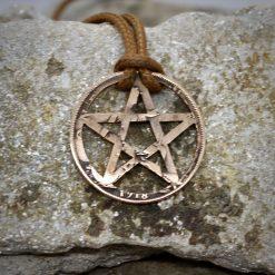 Pentagram pendant, spiritual symbol necklace