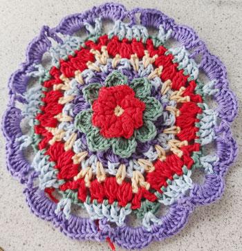 MaryJane - Mandala crochet pattern 8