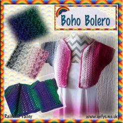 Boho Bolero - child/teen - crochet pattern