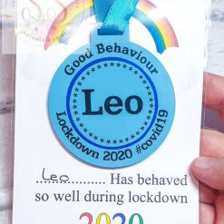 Lockdown 2020 good behaviour medals