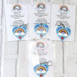 Pocket hug rainbow keyrings 3