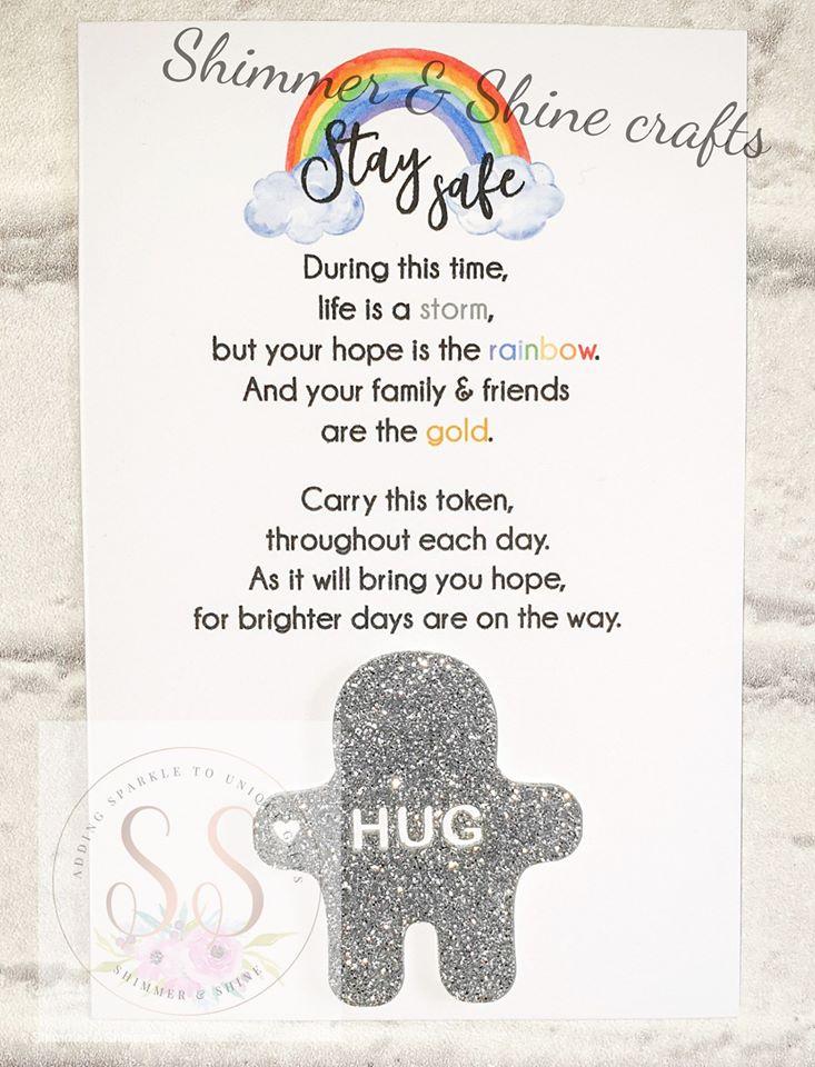Glitter pocket hug keyrings or magnets 4