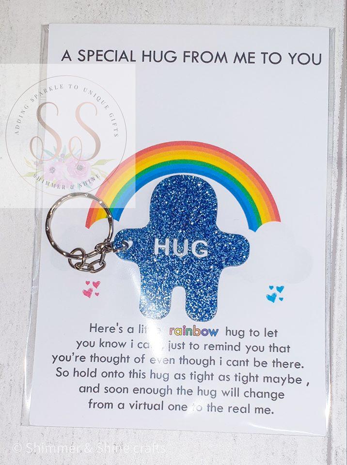 Glitter pocket hug keyrings or magnets 5