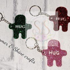 Glitter pocket hug keyrings or magnets 14