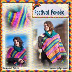 Festival Poncho - crochet pattern