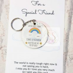 Rainbow quote keyrings & magnets 12
