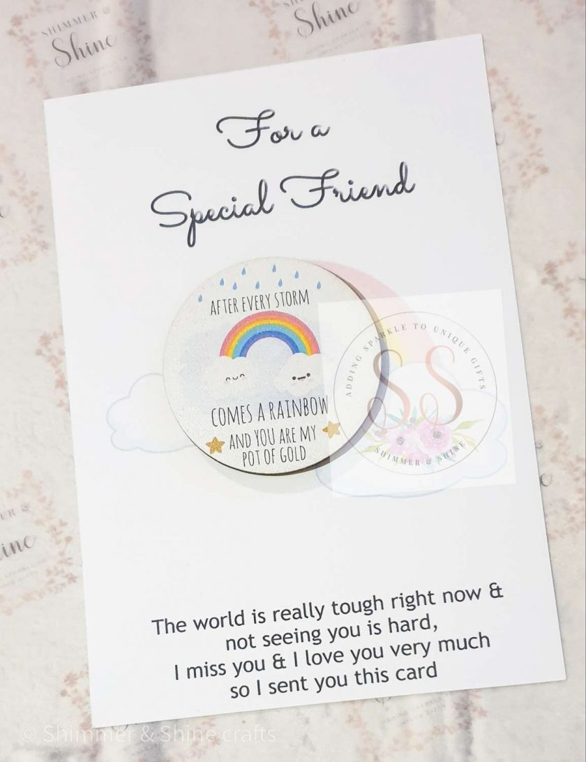 Rainbow quote keyrings & magnets 5