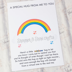 Rainbow quote keyrings & magnets 17