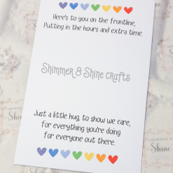 Rainbow quote keyrings & magnets 18