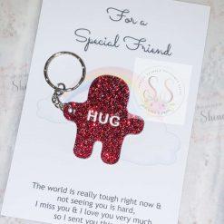 Glitter pocket hug keyrings or magnets
