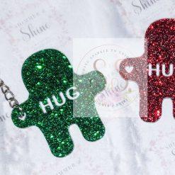 Glitter pocket hug keyrings or magnets 18