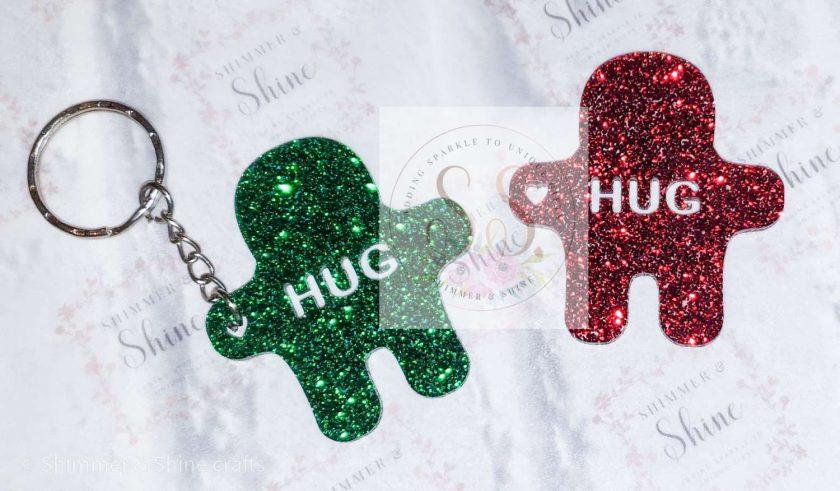 Glitter pocket hug keyrings or magnets 6
