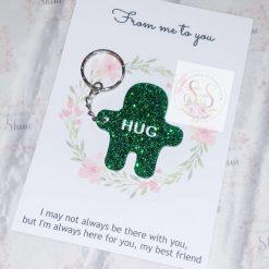 Glitter pocket hug keyrings or magnets 19