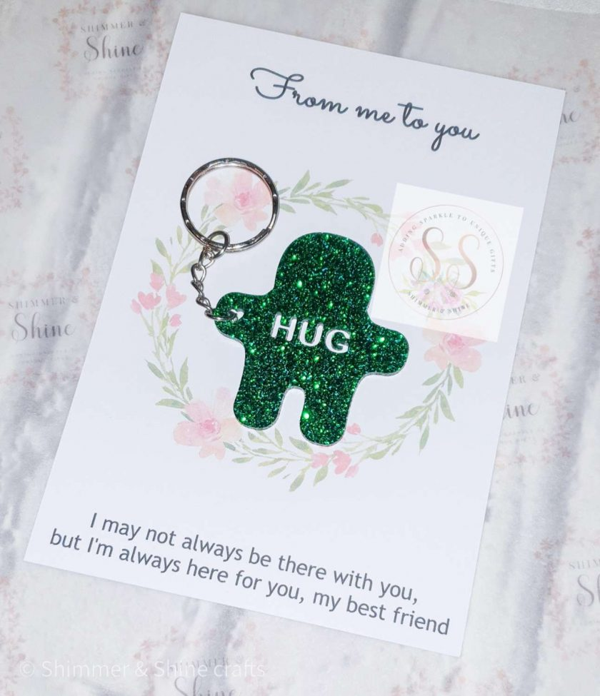 Glitter pocket hug keyrings or magnets 7