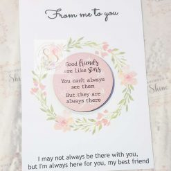 Friendship quote keyrings & magnets