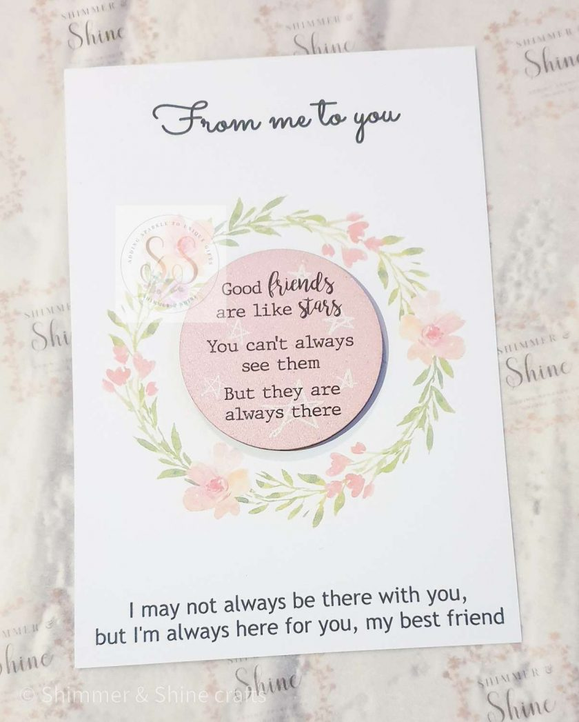 Friendship quote keyrings & magnets 1