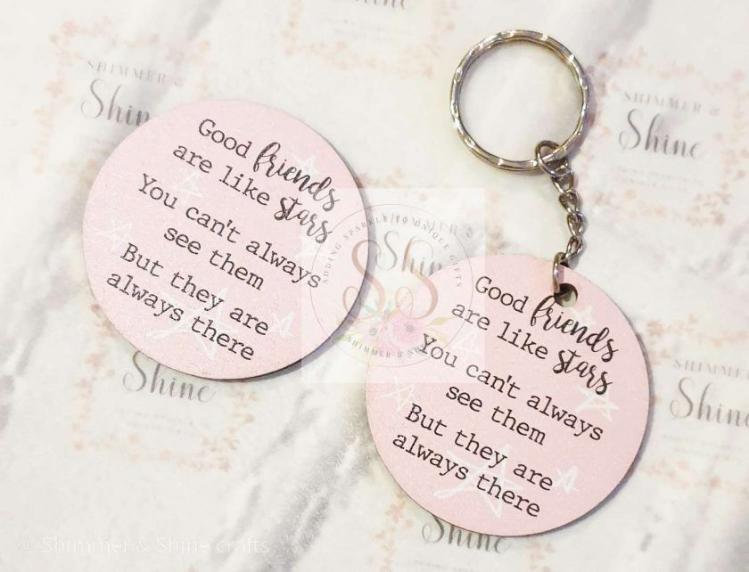 Friendship quote keyrings & magnets 2