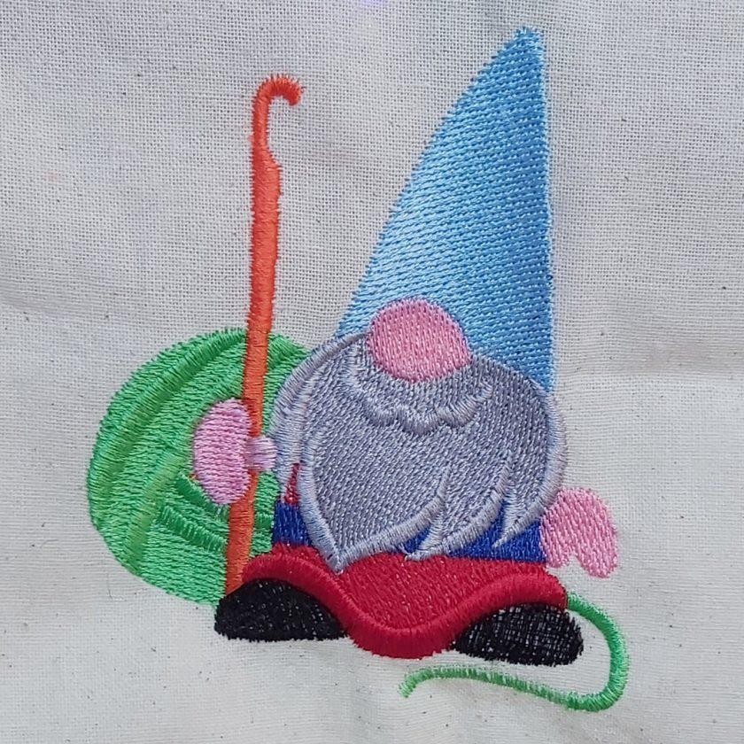 Gordon The Crochet Gnome - embroidered tote bag 6