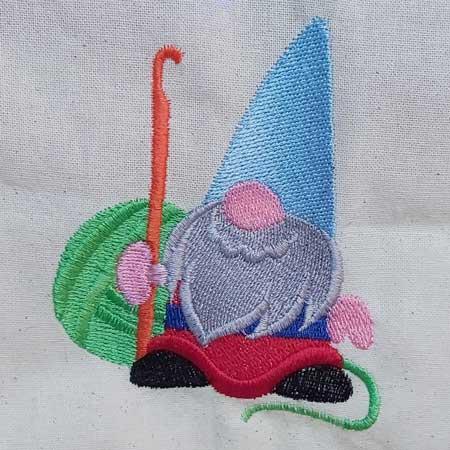 Gordon The Crochet Gnome - embroidered tote bag 5