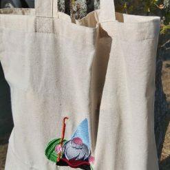 Gordon The Crochet Gnome - embroidered tote bag 7