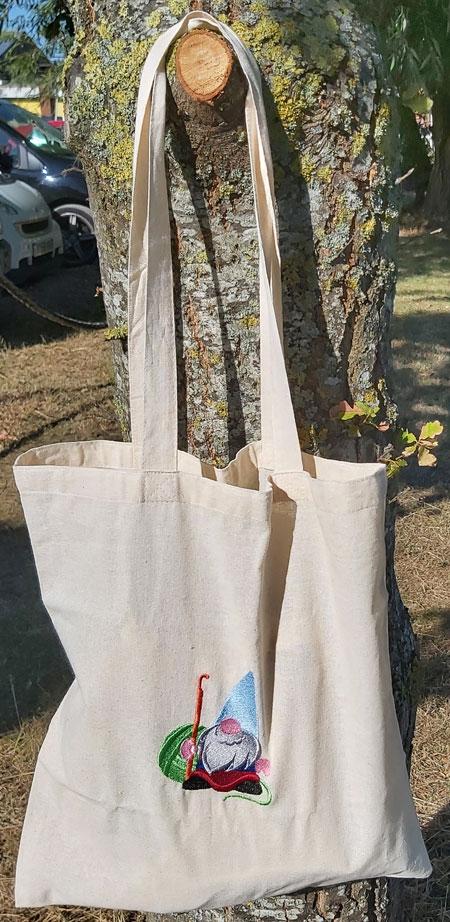 Gordon The Crochet Gnome - embroidered tote bag 3