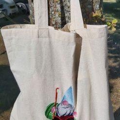 Gordon The Crochet Gnome - embroidered tote bag