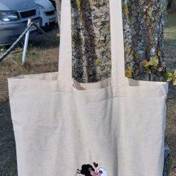 Yarnaholic Sheep - embroidered tote bag 11
