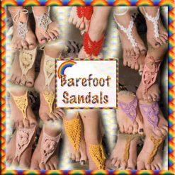 Barefoot Sandals - crochet pattern