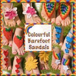 Colourful Barefoot Sandals - crochet patterns