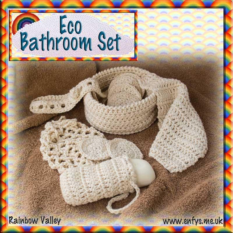 Eco Bathroom Set - crochet pattern 1