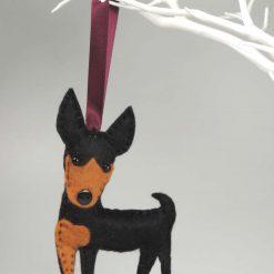 Miniature Pinscher Dog, Standing felt Dog, Hanging Decoration, Dog Lovers Gift