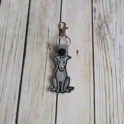 Greyhound dog keyring, greyhound gifts, greyhound dog gifts, whippet keyring