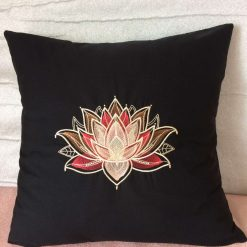 Gilded Lotus Cushion Handmade 9