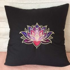 Gilded Lotus Cushion Handmade 8