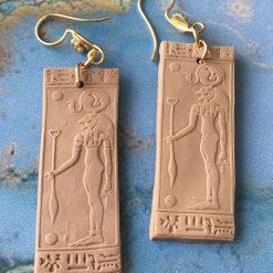 Earrings - Egyptian tile - Shekmet
