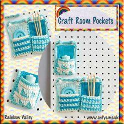 Craft Room Pockets - crochet pattern