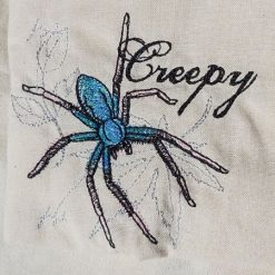 """Creepy"" Spider embroidered tote bag"