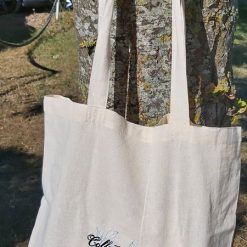 Curious Butterfly embroidered tote bag 7