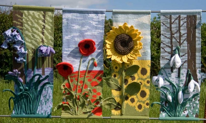 Four Seasons Wall Hangings - crochet patterns - art crochet 1