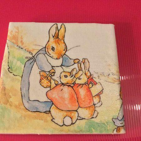 Ceramic Tile Rabbit Coaster Suelovelycrafts