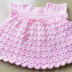 Gorgeous babies pink dress ,first size dress, pretty pink dress, shower gift, 3